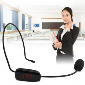 FM Transmitter Wireless Microphone Headset for Guide Tour - P16 - Black - 5