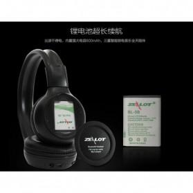 Zealot B570 Wireless Bluetooth Headphone Dengan FM TF - Black - 5