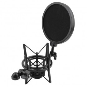 Holder Mikrofon Shockproof dengan Pop Filter - SH-200 - Black