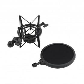 Holder Mikrofon Shockproof dengan Pop Filter - SH-200 - Black - 2