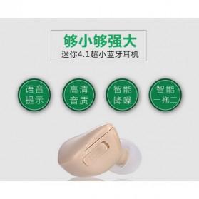 Ultra Mini Sport Wireless Bluetooth Headset Handsfree - Mini X1 - Cream - 6