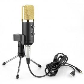 Taffware Mikrofon Kondenser USB Konektor dengan Mini Tripod - FIFINE K669B - Black - 3