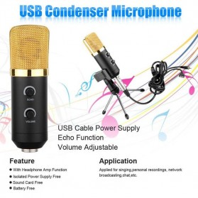 Taffware Mikrofon Kondenser USB Konektor dengan Mini Tripod - FIFINE K669B - Black - 7