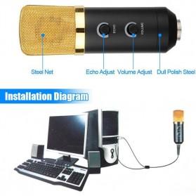 Taffware Mikrofon Kondenser USB Konektor dengan Mini Tripod - FIFINE K669B - Black - 8