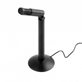 Andoer Microphone for Laptop 3.5mm with Stand Mount - SF-950 - Black