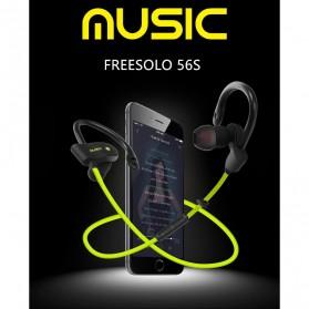 Freesolo 56S Sport Wireless Bluetooth Earphone dengan Mic - Black - 3