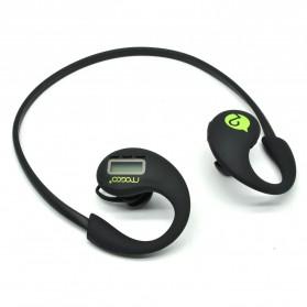 Mogco Sport Wireless Bluetooth Earphone with Pedometer Function - SD1 - Black