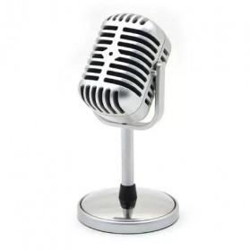 TaffSTUDIO Condenser Microphones Classical Design Vintage Retro - C01U - Silver