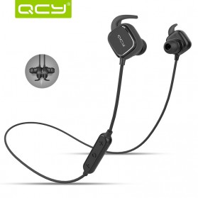 QCY QY12 Earphone Bluetooth Olahraga Magnet Detach dengan Mic - Black