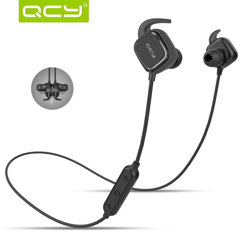 ... QCY QY12 Earphone Bluetooth Olahraga Magnet Detach dengan Mic - Black -  1 ... 8637bcd6f7
