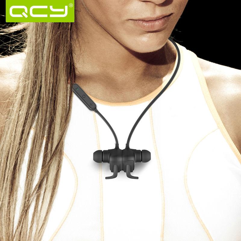 ... QCY QY12 Earphone Bluetooth Olahraga Magnet Detach dengan Mic - Black -  2 ... c071f1616c