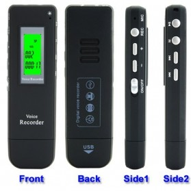 Perekam Suara Digital Meeting Voice Recorder 4GB - DVR-116 - Black - 4