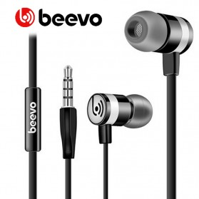 Beevo Earphones Clear Bass Sports with Microphone - EM330 / EM130 - Black - 1