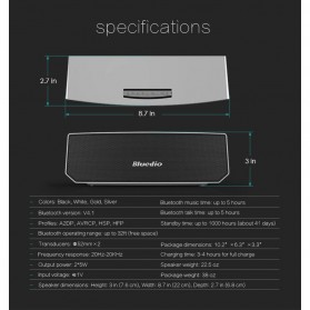 Bluedio BS-3 Camel Bluetooth Portable Speaker 3D Surround Effect - Black - 4
