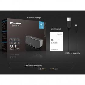 Bluedio BS-3 Camel Bluetooth Portable Speaker 3D Surround Effect - Black - 6