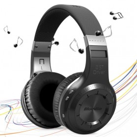 Headphone & Headset Bluetooth - Bluedio HT Turbine Wireless Bluetooth Headphone with Mic - Black