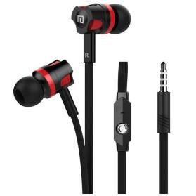 Langsdom Dynamic Super Bass Earphone dengan Mic - JM26 - Black/Red - 2