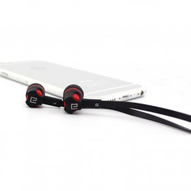 Langsdom Dynamic Super Bass Earphone dengan Mic - JM26 - Black/Red - 3