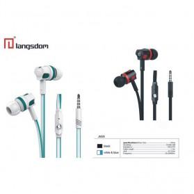 Langsdom Dynamic Super Bass Earphone dengan Mic - JM26 - Black/Red - 9