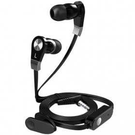 Langsdom Millet Super Bass Earphone dengan Mic - JM02 - Black