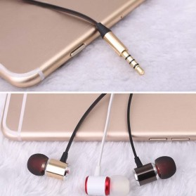 YPZ Earphone Bass Kabel Flat dengan Mic - K6 - Black - 6