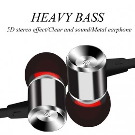 YPZ Earphone Bass Kabel Flat dengan Mic - K6 - Black - 9