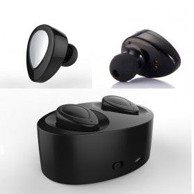 True Wireless Bluetooth Earphone with Charging Dock - Black