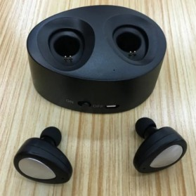 True Wireless Bluetooth Earphone with Charging Dock - Black - 6