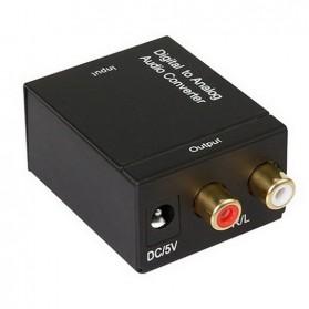 Konverter DAC Coaxial & Toslink ke RCA - TC51800 - Black