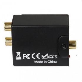 Konverter DAC Coaxial & Toslink ke RCA - TC51800 - Black - 3