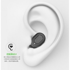 Ultra Mini Wireless Bluetooth Earphone - Black - 3