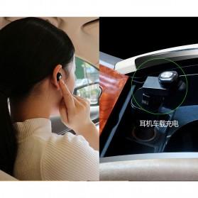 Ultra Mini Wireless Bluetooth Earphone - Black - 5