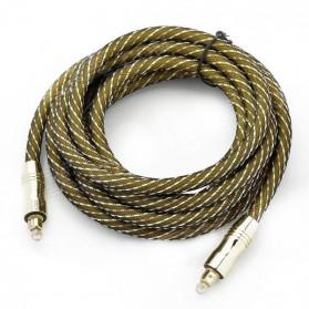 Kabel Toslink Audio Fiber Optic Male Ke Male 3 Meter - Golden - 1