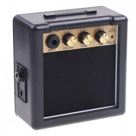 Amplifier Mini Gitar Elektrik 3W - PG-3 - Black - 1