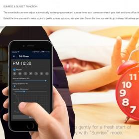 FLYIDEA Smart Light Bulb Bluetooth Bohlam LED RGB E27 4.5W - SMD4014 - White - 4