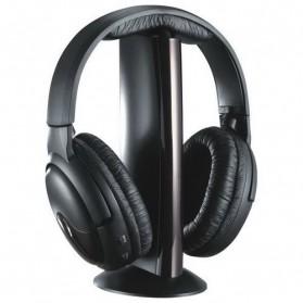 XBS Headphone 5 in 1 Wireless Radio FM Receiver - MH2001 - Black - 2