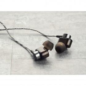 Dual Dynamic Driver Earphone dengan Mic - EP012 - Brown - 10