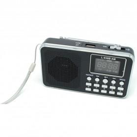 FM Radio MP3 Player - L-938 - Black