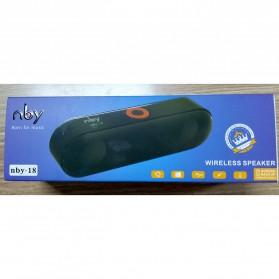NBY Portable Bluetooth Speaker dengan Port USB Micro SD Slot - NBY-18 - Black - 6