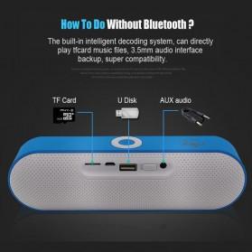 NBY Portable Bluetooth Speaker dengan Port USB Micro SD Slot - NBY-18 - Black - 3