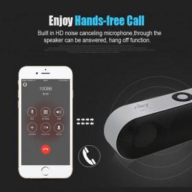 NBY Portable Bluetooth Speaker dengan Port USB Micro SD Slot - NBY-18 - Black - 4