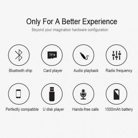 NBY Portable Bluetooth Speaker dengan Port USB Micro SD Slot - NBY-18 - Black - 5