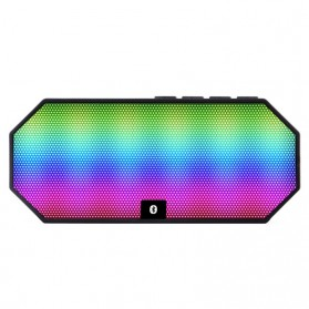 Portable Bluetooth Speaker Colorful LED Light - ES-E925 - Black - 2