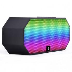Portable Bluetooth Speaker Colorful LED Light - ES-E925 - Black - 3