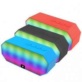 Portable Bluetooth Speaker Colorful LED Light - ES-E925 - Black - 6