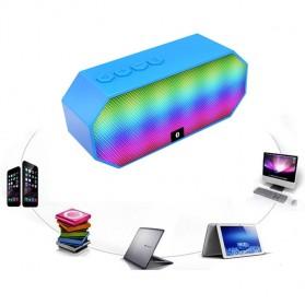 Portable Bluetooth Speaker Colorful LED Light - ES-E925 - Black - 7