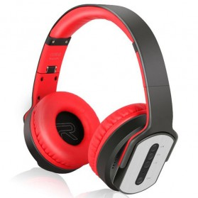 Ubit MH2 Bluetooth Headphone Speaker - Black/Red