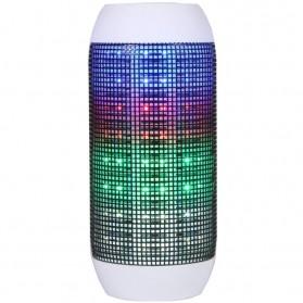 Speaker Bluetooth 360 Pulse Light MicroSD Slot - Black White
