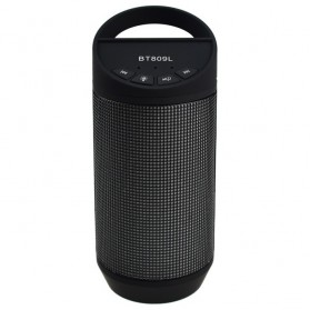Speaker Bluetooth LED dengan FM Radio - BT809L - Black