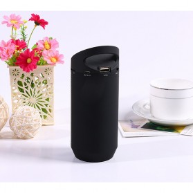 Speaker Bluetooth LED dengan FM Radio - BT809L - Black - 2